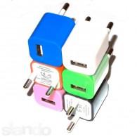 Адаптер 220V->USB 1A Medium цветной кубик
