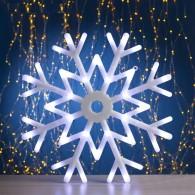 "Фигура светод. ""Снежинка"" 40х40х2см, белая, 8 реж. (676359)"