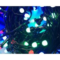 Эл. гирлянда уличная 100 светод.разноцв., 10m, чер.шнур (RB-LD100-M-E)