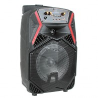"Колонка портативная 8"" ECO-806ch (Bluetooth/USB /microSD/FM/ПДУ/ 1 микр) черная"