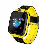 Smart-часы детские с GPS трекером Q12 (жел\сер)