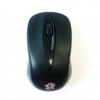 Мышь W3 черная беспроводная (2*ААА не в компл)