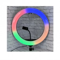 Кольцевая лампа 45см мультиколор (10 цветов) с пультом