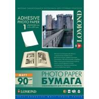 Бумага Lomond матовая A4, 90г самоклеящаяся неделённая /25(2210003)