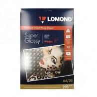 Бумага Lomond суперглянцевая A4, 295 г /20л (1108101)/35