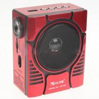 Радиоприемник RX-188ch (USB+microSD/фонарь) красный