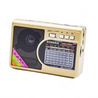 Радиоприемник HN-1314 (Fm/USB/microSD/акб) золото Haoning
