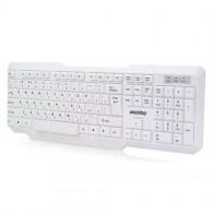 Клавиатура SmartBuy 333 USB белая (SBK-333U-W) с подсветкой