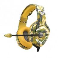 Наушники K1-B игровые с микрофоном хаки (3,5 джек с 3мя контактами!)