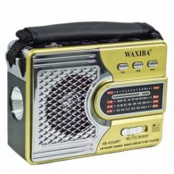 Радиоприемник XB-453 (USB/SD/FM) золото Waxiba