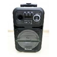 """Колонка портативная 8"""" K19 (Bluetooth/USB /microSD/ПДУ/1 микр) чер"""