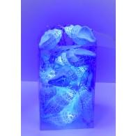 "Эл. гирлянда ""Ракушки"" синие, прозр. шнур, 5м"