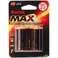 Батарейка Kodak LR6 MAX BL 4+2