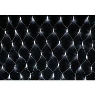 Гирлянда - сетка 200 LED белая, 2х1,5м прозр. шнур