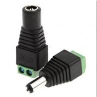 Комплект переходников питаня Orient C662 DC(M)+DC(F), винтовые раземы для кабеля