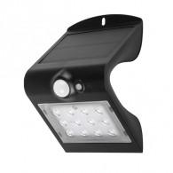 Светильник садовый Фаzа SLR-W03 черный настен. на солн батарее, датчик движ.