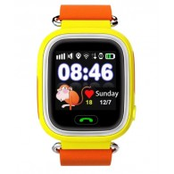 Smart-часы Q90 с GPS и Wi-Fi желт\оранж