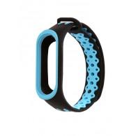 Ремешок для фитнес-браслета Mi3\Mi4 черно-синий