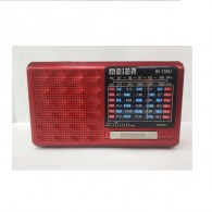 Радиоприемник М-U136 (Fm/microSD/AUX/акб/3*AAA) красный Meier (8х14х4см)
