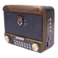 Радиоприемник М-U129 (USB/microSD/Fm/акб/2*R20) серый Meier