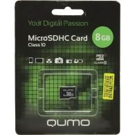 Карта памяти microSDHC Qumo 8GB Class 10 без адаптеров