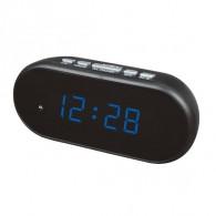 Часы настольные VST-712-5 син.цифры, чер.корпус (дата, темп., будильник,4*ААА)