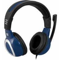 Наушники Defender Warhead G-280 игровые, синий, с микрофоном, кабель 2,5м