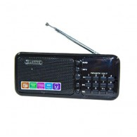 Радиоприемник HN-S362LED (USB/microSD/акб 18650/часы) черный Haoning