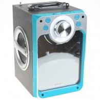 Колонка портативная KTS-822ch (Bluetooth/USB /microSD/FM/караоке) синяя