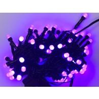Гирлянда 100 светод.фиол.матовые черный шнур