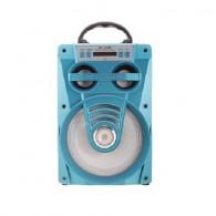 Колонка портативная MS-165BT (Bluetooth/USB /SD/FM/дисплей) голубая