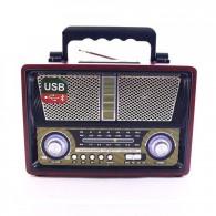 Радиоприемник MD-1706BTch (Bluetooth/USB /SD/microSD/FM/акб/4*R20) чер Kemai