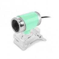 Веб-камера CBR CW 830M с микр. (0,3Мп, видео 640*480, USB 2.0, каб 1,4м) зел