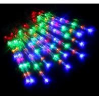 "Эл. гирлянда LED ""Сосульки"" разноцв. 50см прозр.провод"