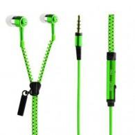 Гарнитура Zipper зеленая молния