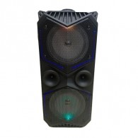 """Колонка портативная 8"""" ZQS-1819 (Bluetooth/USB /microSD/FM/ПДУ/ 1 микр) черная"""