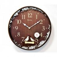 Часы настенные E2807-2 (1АА) темное дерево