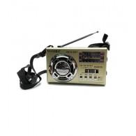 Радиоприемник XB-321 (USB/SD/FM/фонарь) золото Waxiba