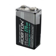 Аккумулятор Robiton 6F22 270mAh BL 1 предзаряженный