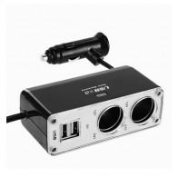 Разветвитель в авто на 2 устройства+2 USB BM-003-1 (118892)