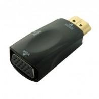 Переходник HDMI (M) - VGA (F) +audio Orient C118