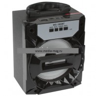 Колонка портативная MS-286BT (Bluetooth/USB /SD/FM/дисплей) черная
