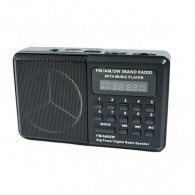 Радиоприемник HN-S181LED (USB/microSD/акб 18650) черный Haoning