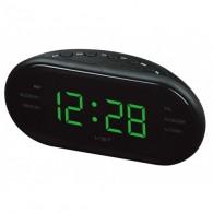 Часы настольные VST-902-4 зел.цифры+радио (220V)