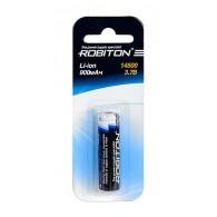 Аккумулятор Robiton 3.7v 900mAh Li14500 c защитой (AA)