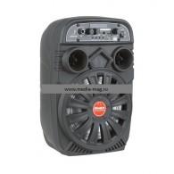 Колонка портативная 2*6.5 (OM-703ch) (Bluetooth/USB /FM/микрофон/пульт
