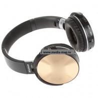 Наушники-плеер N95BT золото (Fm, microSD,Bluetooth)
