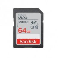 Карта памяти SDHC SanDisk 64Gb Class 10 UHS-1 Ultra 120MB/s (SDXC)