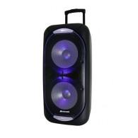 "Колонка портативная 8"" MR-818 (Bluetooth/USB /microSD/ПДУ/2 беспр.микр) чер"