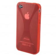 Чехол для iPhone 4 силиконовый красный